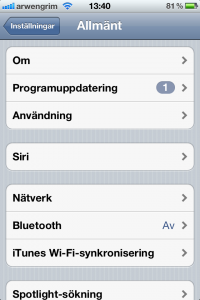 iPhone WiFi tethering