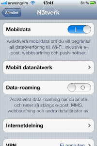 iPhone dela Internet WiFi