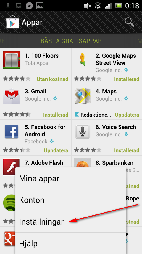 Android-appar på Google Play
